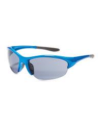 Crane Shiny Cycling Glasses - Blue
