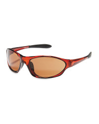 Crane Shiny Cycling Glasses - Brown