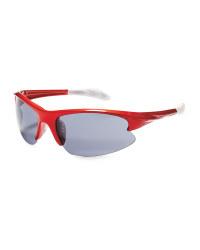 Crane Shiny Cycling Glasses - Red