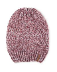 Crane Slouch Knitted Hat - Berry