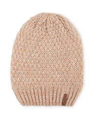 Crane Slouch Knitted Hat - Tan