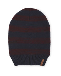 Crane Slouch Knitted Stripe Hat