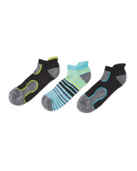 Crane Textured Trainer Socks 3 Pack
