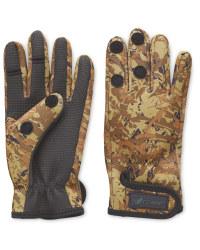 Crane Two Fold Camo Fishing Gloves
