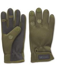 Crane Two Fold Green Fishing Gloves