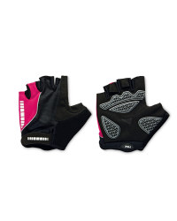 Crane Touch & Close Cycling Gloves - Black/Cerise