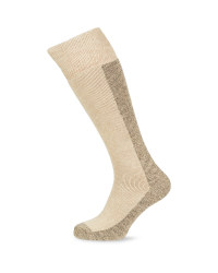 Crane Wader Wool Fishing Socks - Beige