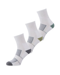 Crane White Ankle Fitness Socks