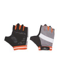 Crane Grey/Orange Cycling Gloves