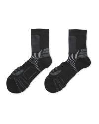 Crane Windproof Panel Socks - Black/Grey