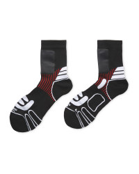 Crane Windproof Panel Socks - Black/White