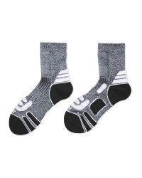 Crane Windproof Panel Socks - Grey/White