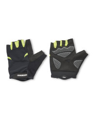 Crane Yellow Velcro Cycling Gloves