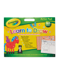 Crayola Learn To Draw Artist Pad