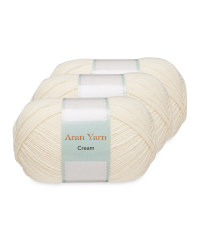 Cream Aran Yarn Bundle