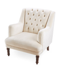 Kirkton House Cream Velvet Armchair