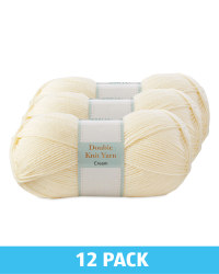 Cream Double Knitting Yarn 12 Pack