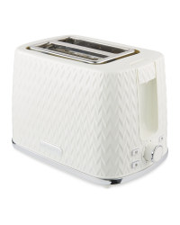 Cream Textured 2 Slice Toaster