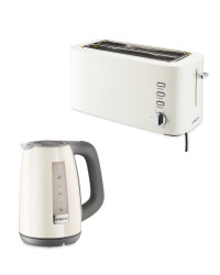 Cream Toaster and Kettle Bundle