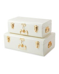 Cream Storage Trunk Set