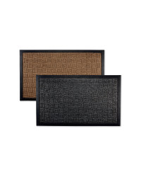 Criss-Cross Design Doorguard Mat