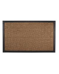 Criss-Cross Design Doorguard Mat - Biscuit