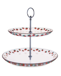 Crofton 2 Tier Strawberry Cake Stand