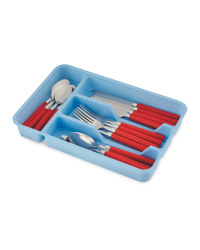 Crofton Blue/Red Cutlery Set