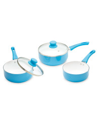 Crofton Ceramic Coated Pan Set - Blue