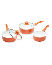 Crofton Ceramic Coated Pan Set - Orange