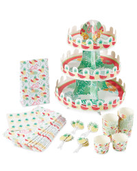 Crofton Cupcake Tropical Party Set