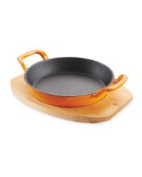 Crofton Double Handle Pan & Board - Orange