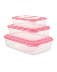 Crofton Food Container 3-Pack - Magenta