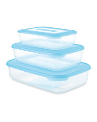 Crofton Food Container 3-Pack - Turquoise