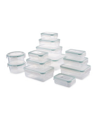 Crofton Food Containers 13-Pack - Green/Clear