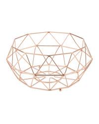 Crofton Fruit Wire Bowl - Copper