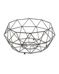 Crofton Fruit Wire Bowl - Matt Black