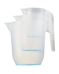 Crofton Measuring Jug 3 Pack - Blue