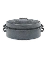Crofton Oval Self Basting Roaster - Grey