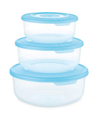 Crofton Round Food Container 3-Pack - Turquoise