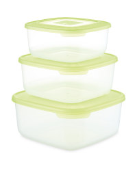 Crofton Square Food Container 3-Pack - Green