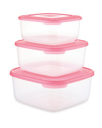Crofton Square Food Container 3-Pack - Magenta