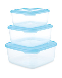 Crofton Square Food Container 3-Pack - Turquoise