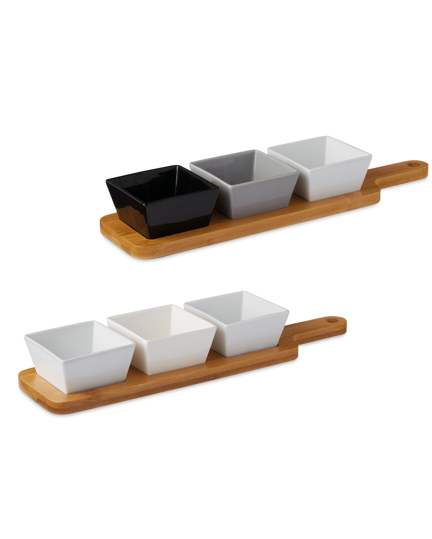 Crofton Serving Board & Square Bowls