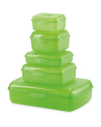 Crofton Storage Containers 5-Piece - Green