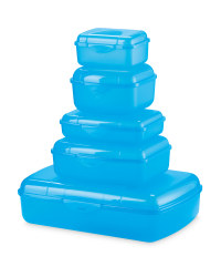 Crofton Storage Containers 5-Piece - Blue