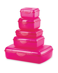 Crofton Storage Containers 5-Piece - Magenta