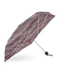 Cross Stripe Print Umbrella