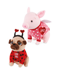 Cupig and Pug Soft Toy
