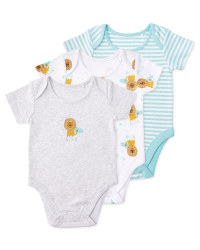 Organic Lion Baby Body Suits 3 Pack